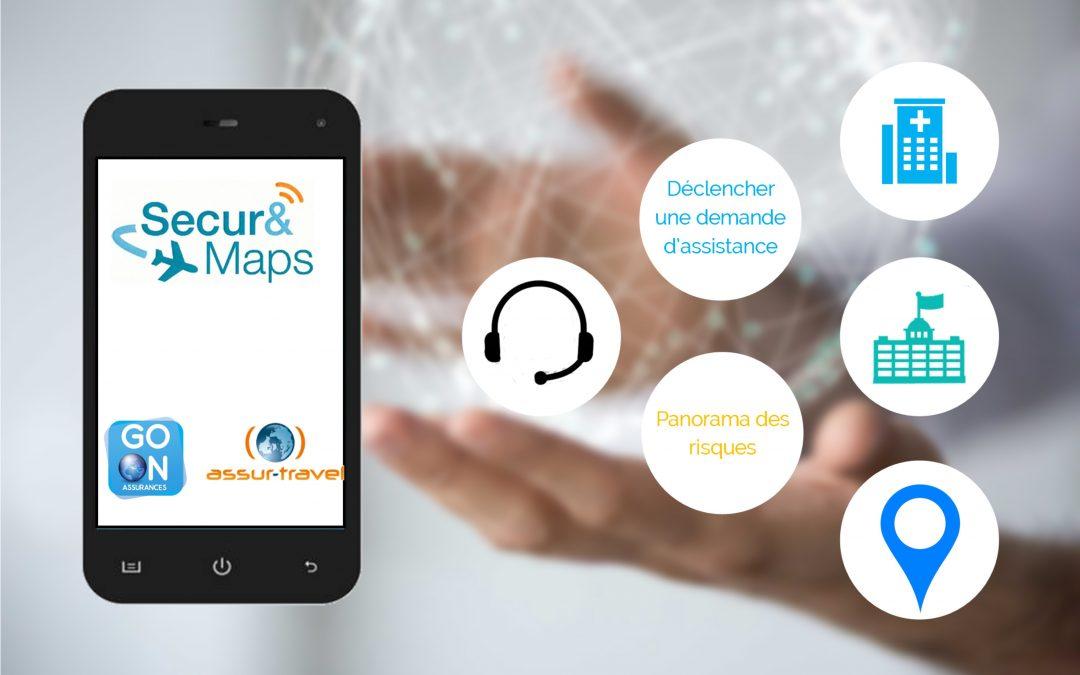 """Solutions Expatriés GO ON ASSURANCES : L'application """"Secur and Maps"""" accessible à tous"""